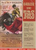"Corrida De Torros. - Plaza De Toros De Benalmadena. - Domingo 18 Mayo 1969 "" El Cordobes"" 142 Photos /2 Tendido. - Programas"