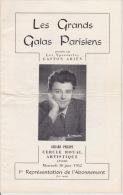 Les Grands Galas Parisiens - Gaston Ariën, Gerard Philipe. Cercle Royal Artistique. -Anvers 30 Janv. 1952 ....Ford - Programmes