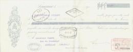 LETTRE DE CHANGE - Maillot Freres  -SAUMUR PARIS  - 1917 - 1900 – 1949