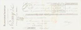 LETTRE DE CHANGE -1917 Bijouterie Remy Rue Turbigo  PARIS - 1900 – 1949