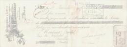 LETTRE DE CHANGE - Imprimerie Monogramme Et Lettres L  CHAUSSENOT  Rue De Bondy Graveur PARIS - France