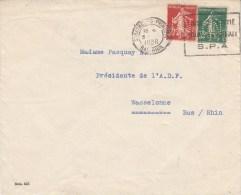 Env Des DERNIERES NOUVELLES D´ALSACE Affran Y&T 160 + 361 Perforé DN Du 3.2.38 - France