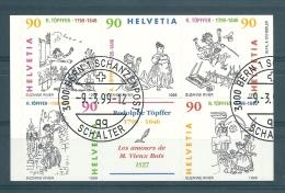 Timbre Suisse 1999 * Rodolphe Töpffer*  Oblitéré Du 1er Jour - Suisse
