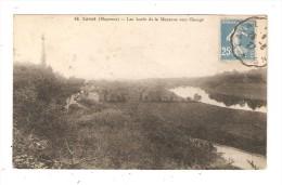 CPA : 53 - Laval : Bords De La Mayenne Vers Changé : Cours D'eau - Maisons . - Vue Peu Commune - Laval