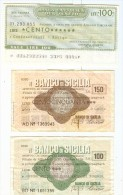 73 N° 3 MINIASSEGNI BANCO SICILIA E BANCA CATTOLICA DEL VENETO - Monete & Banconote