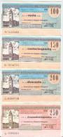 78 N° 4 MINIASSEGNI BANCA POPOLARE DI BERGAMO - Monete & Banconote