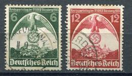 Deutsches Reich -  Mi. 586x-587x (o) - Usados