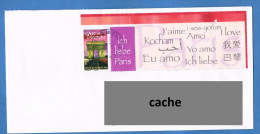 France 2007 - Réf. 3599A - Timbre Personnalisé - Arc De Triomphe Illuminé - Sur Enveloppe - Oblitéré Cachet Rond - France