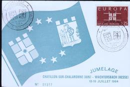 CHATILLON SUR CHALARONNE JUMELAGE 1964 ET WACHTERSBACH - Châtillon-sur-Chalaronne