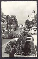 CPSM-PHOTO- FRANCE- CANNES (06)- PROMENADE DE LA CROISETTE AVEC BELLE ANIMATION- VIEILLES AUTOS - Cannes