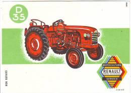 BUVARD AGRICULTURE TRACTEUR RENAULT D 35 - Agriculture