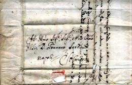 """Napoli-00761 - Raro Documento """"groviera"""", Del 22 Novembre 1762, Da Sora (Rosicchiato Da Blattadei). - 1. ...-1850 Prefilatelia"""