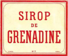 ETIQUETTE SIROP Grenadine NOEL N° 7 - Andere