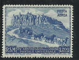 SAN MARINO 1950 POSTA AEREA AIR MAIL UPU LIRE 200 MNH - Poste Aérienne