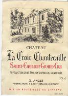 """ETIQUETTE VIN ROUGE """"'LA CROIX CHANTECAILLE"""" - Bordeaux"""