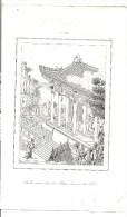CHINE CHINA Gravure 1837 - Salle Extérieure Du Palais Du Roi De Tsi - -Firmin Didot Frères éditeurs. - Prints & Engravings