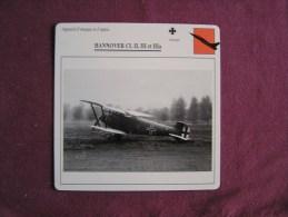 HANNOVER CL II CL III Et CL IIIA    FICHE AVION Avec Description  Aircraft Aviation - Avions