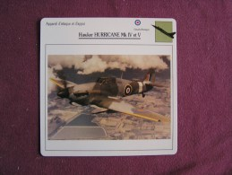 HAWKER Hurricane MK IV Et V     FICHE AVION Avec Description  Aircraft Aviation - Avions