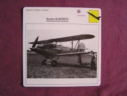 HAWKER Hartbees   FICHE AVION Avec Description  Aircraft Aviation - Avions