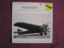 DYLE Et BACALAN D B 20     FICHE AVION Avec Description  Aircraft Aviation - Avions