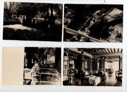 """Lot De 4 Cartes Non Circulé """" Vues Du MOULIN D'IVRY - Bar Hotel Restaurant - E. Guinemer Propriétaire """" - Ivry-la-Bataille"""