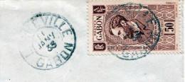 GABON Zentralafrika 1933, 50 FR Sondermarke, Gut Lesbare Stempel Gabun - Paris - Zentralafrik. Republik