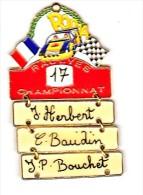 CHAMPIONNAT DE FRANCE DES RALLYES TT (PIN´S ARTICULE H:65mm L:38mm ) - Rallye