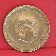SPAIN  2,5  PESETAS  1953  19-56 KM# 785  -    (Nº10914) - [ 5] 1949-… : Royaume