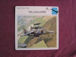 BRITISH AEROSPACE Harrier     FICHE AVION Avec Description  Aircraft Aviation - Avions