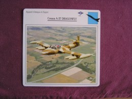 CESSNA A-37 Dragonfly      FICHE AVION Avec Description  Aircraft Aviation - Avions