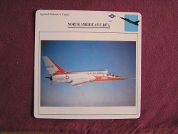 NORTH AMERICAN F-107A      FICHE AVION Avec Description  Aircraft Aviation - Avions