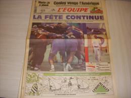 EQUIPE 14383 03.08.1992 JO BARCELONE ATHLETISME PEREC CONLEY HANDBALL FRANCE