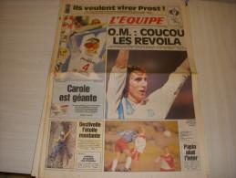 EQUIPE 14547 11.02.1993 FOOT MARSEILLE F1 PROST SKI MERLE ALPINISME DESTIVELLE - Otros