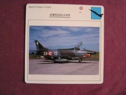 AERITALIA G-91Y       FICHE AVION Avec Description  Aircraft Aviation - Avions