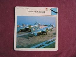 YAKOVLEV Yak-38 Forger    FICHE AVION Avec Description  Aircraft Aviation - Avions