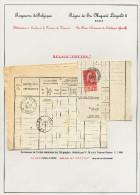 DT272 -  Collection Lesaffre - Document Des Télégraphes TP Fine Barbe TOURNAI 1900 - RARE RELAIS De POTTES Via CELLES - Télégraphes