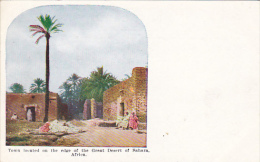 Africa Town Located On The Edge Of The Great Desert Of Sahara - Postcards
