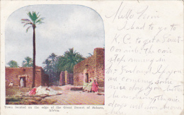 Africa Town Located On The Edge Of The Great Desert Of Sahara 1909 - Postcards