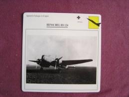 HENSCHEL Hs 124   FICHE AVION Avec Description  Aircraft Aviation - Avions