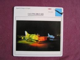 CAC F7M Airguard   FICHE AVION Avec Description  Aircraft Aviation - Avions