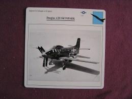 DOUGLAS A2D Skyshark    FICHE AVION Avec Description  Aircraft Aviation - Vliegtuigen