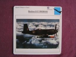 BLACKBURN B-37 Firebrand    FICHE AVION Avec Description  Aircraft Aviation - Vliegtuigen