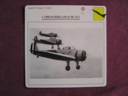 CAPRONI BERGAMASCHI  AP-1    FICHE AVION Avec Description  Aircraft Aviation - Vliegtuigen