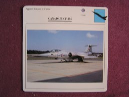 CANADAIR CF-104     FICHE AVION Avec Description  Aircraft Aviation - Avions