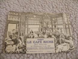 A256. CPA.  54. NANCY.LE CAFE RICHE. Rue Saint-Jean. H.PINGOT ,Propriétaire.  Beau Plan Animé. Non écrite - Nancy