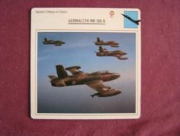 AERMACCHI MB 326 K    FICHE AVION Avec Description  Aircraft Aviation - Vliegtuigen