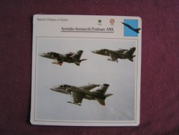 AERITALIA AERMACCHI EMBRAER AMX   FICHE AVION Avec Description  Aircraft Aviation - Vliegtuigen