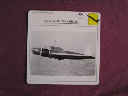 CURTISS Model 76 A-8 Shrike   FICHE AVION Avec Description  Aircraft Aviation - Vliegtuigen