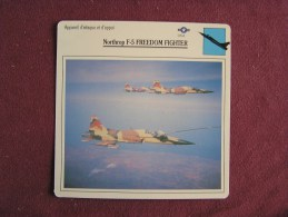 NORTHROP F-5 Freedom Fighter     FICHE AVION Avec Description  Aircraft Aviation - Avions