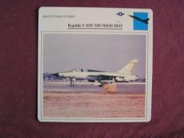 REPUBLIC F-105F Thunderchief    FICHE AVION Avec Description  Aircraft Aviation - Vliegtuigen